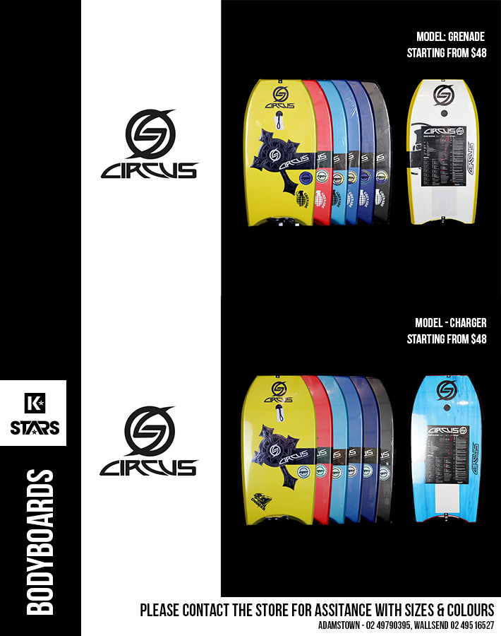Circus Bodyboard Sale on Now - Save up to 20% off
