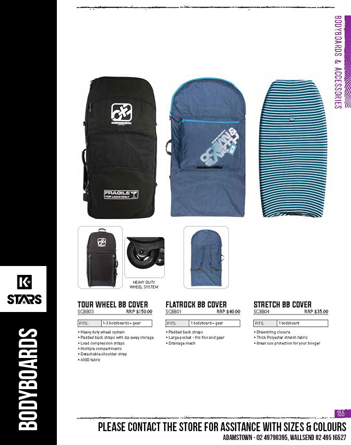 Ocean & Earth Bodyboard Accessories - In-Store Now...