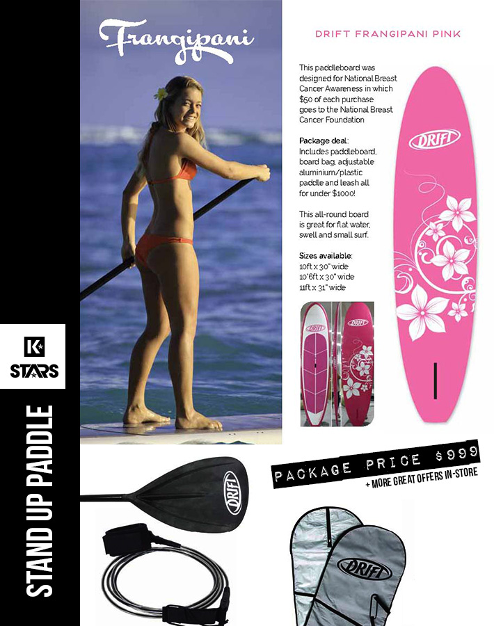 Pink Frangipani SUP Package only $999