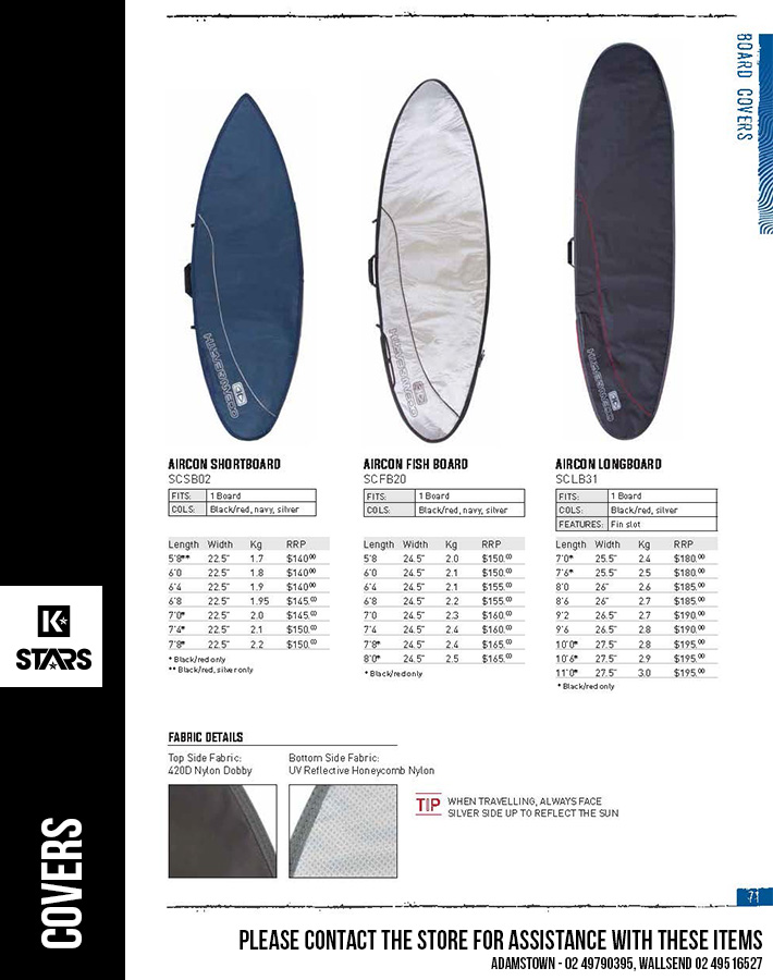 Ocean & Earth Surfboard Covers - for assistance contact the store.