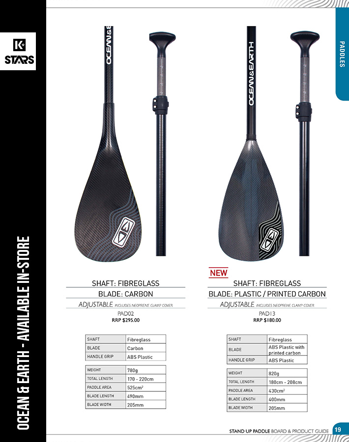 Ocean & Earth SUP Paddles available in-store