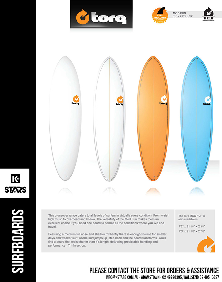 More Surfboards Brands available in-store....