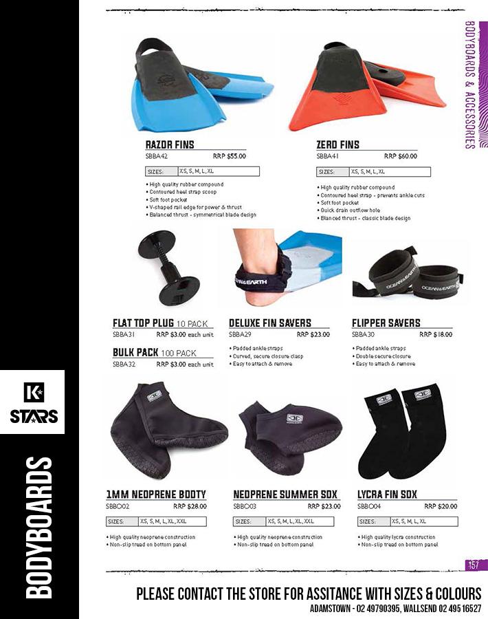 Ocean & Earth Bodyboard Accessories - In-Store Now...