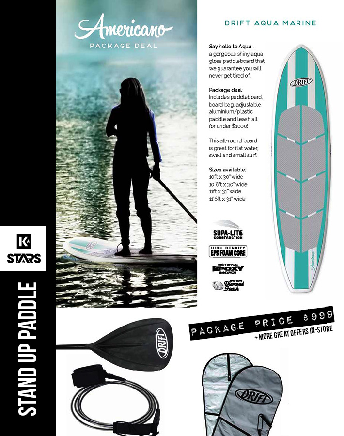 Aqua Americano SUP Package only $999