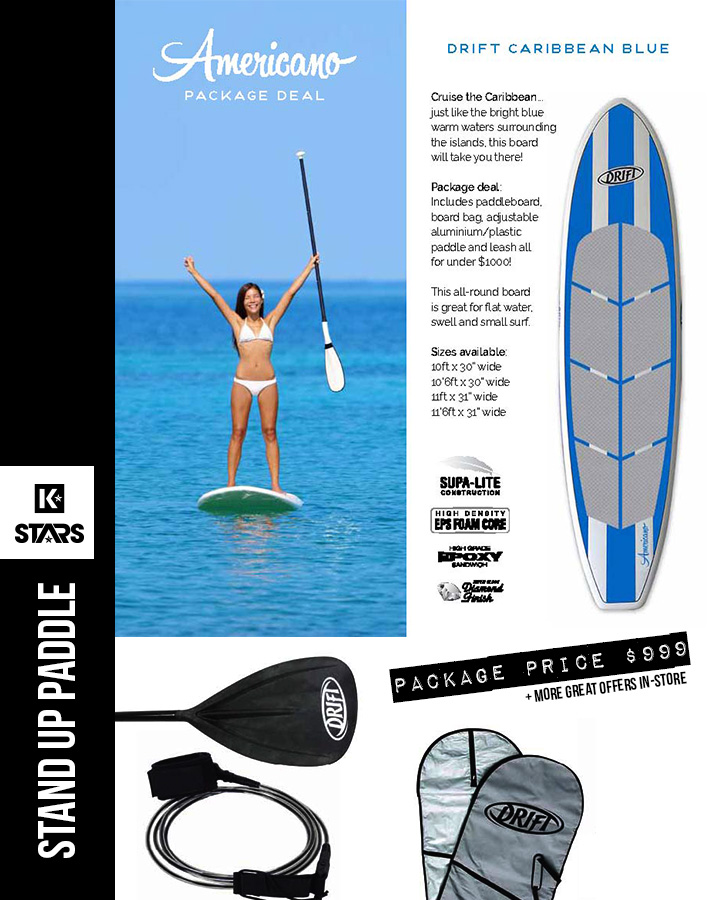 Blue Americano SUP Package only $999