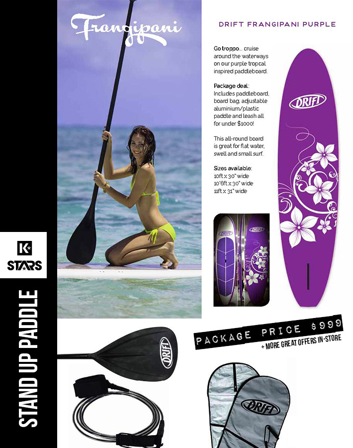 Purple Frangipani SUP Package only $999
