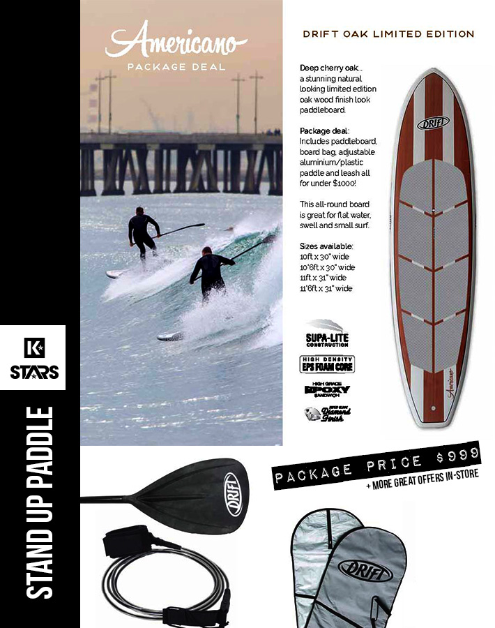 Oak Americano SUP Package only $999